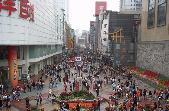 chengdu china winkelen