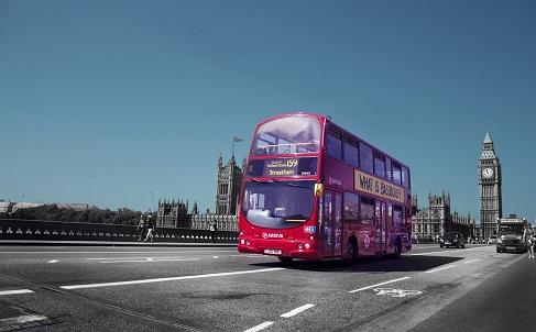 Londen bus en Big Ben