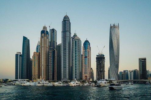 Dubai centrum wolkenkrabbers